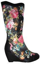 Stiefel Boots Stiefeletten Hippo Boho Vintage Schuhe Keil 36 37 38 39 40 41 NEU