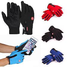 Touch Screen Windproof Waterproof Outdoor Sport Gloves Men Women Winter Warm Lot