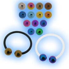 Bioflex Barbell Circular Cbb 1,6 Mm Calibre 14 titanio Bolas Piercing horseshoe