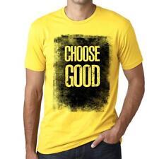 Men's Vintage Tee Shirt Graphic T shirt Choose GOOD Pale Yellow