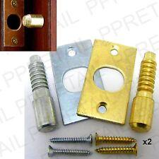 2 x SECURITY HINGE BOLT Strong Steel Extra Door Strength SILVER NICKEL/BRASS