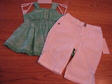 Calvin Klein CK infant toddler baby girls 12M 12 MOS shirt pants 2 pc NWT*^