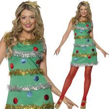 Femmes Sapin De Noël Costume Déguisement Fin Comédie Vert Smiffys 36992