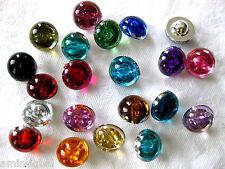 15 Knöpfe perlenförmig 10mm, verschiedene Farben,Farbe wählbar, K90
