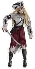 Zombie Pirate Queen Buccaneer Halloween Dress & Hat Adult Womens Costume Dress