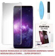 Pellicola Vetro Temperato Curvo 3D UV per Samsung S6 Edge+ S7 Edge S8 S8+ S9 S10