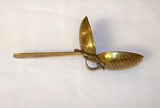 Very Nice Antique Brass Tea Strainer Marked England
