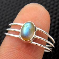 Easter Sale 925 Sterling Silver Labradorite Gemstone Handmade Ring Choose Size