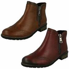 Ladies Rieker Zip Ankle Boots 'Y3361'