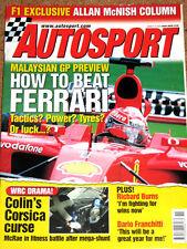 Autosport 14/3/2002* TOUR de CORSE RALLY - TOYOTA F1 TEAM - BUTTON at RENAULT