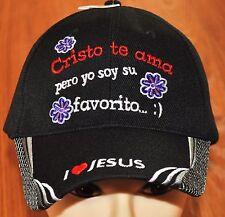 Cristo Te Ama Pero Yo Soy Su Favorito Cristiano Gorra Hat Ball Cap Amo A Jesus