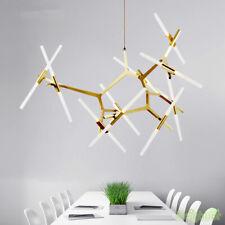 Modern Glass Tube Suspension Chandelier Hanging LED Pendant Lamp Lights