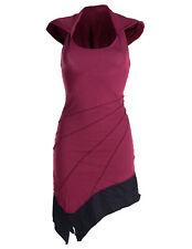 Vishes Neckholder Kleid zweifarbig Sommerkleid Tunika Lagenlook Mini Kleid Goa
