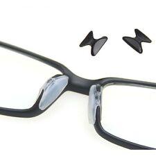 5Paar Transparent Anti Rutsch Silikon Nasenpads Brillenpad Schwarz 2.5mm .