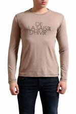 Gianfranco Ferre Men's Beige Wool Silk Long Sleeve T-Shirt US XS S XL