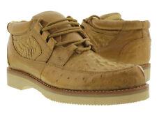 Men's El Presidente Sand Genuine Crocodile Ostrich Skin Casual Exotic Shoes
