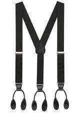 "Hold'Em 1 3/8"" Tuxedo Braces Suspenders Men – Heavy Duty USA MADE, Adjustable"