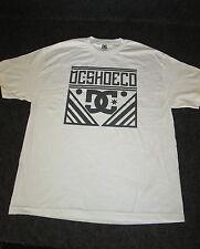 Da Uomo Originali DC Moda Casual Skate Maglietta T-Shirt S M L XL bianco {DC02}