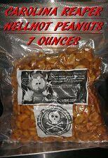Carolina Reaper/ Moruga Scorpion/ Ghost Pepper PEANUTS~7 OUNCE OF INFERNO NUTS.