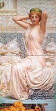 Nude girl cloth A. Moore Tile Mural Kitchen Bathroom Backsplash Marble Ceramic
