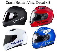 Personalised Crash Hat Vinyl Decal - Safety Helmet Sticker Motorbike Motorcycle