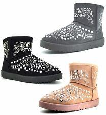 Stivaletto donna caldo foderato scarpe donna invernali scarponi caldi pelliccia