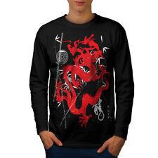 FANTASY drago Mystic Uomini Manica Lunga T-shirt Nuove | wellcoda