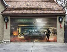 3D Car Park Tank Garage Door Murals Wall Print Decal Wall Deco AJ WALLPAPER CA