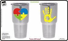 Autism Awareness Vinyl Decal (Set of 2) for Yeti Cup Tumbler Sticker RTIC Ozark