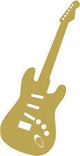 ADHESIVO Aplicación ORO Decoración Música Instrumento Guitarra en 7 Tallas