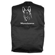Belgischer Schäferhund Malinois Hundesportweste Rückentasche Weste Hundesport