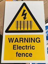 Signe d'avertissement-avertissement clôture électrique - 300 x 200mm safety signes