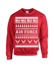 US Air Force Ugly Sweater Design American Flag XMas Unisex Crew Sweatshirt 1708