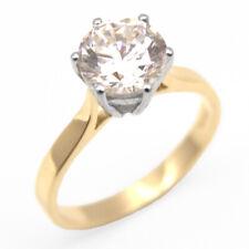 2 Carat Diamond-Unique Solitaire Solid Gold Engagement Ring (SS235)