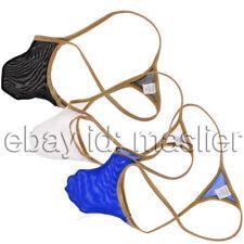 Mesh See-through Design Sexy Bikini Men Thongs Underwear G-strings Fashion Tanga