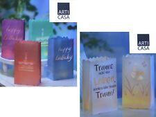 Leuchttüten aus Papier für Teelichter, Lichttüten, verschiedene Größen u. Motive
