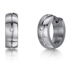 Men's Titanium Earrings Single/Pair Titanium Diamond Hinged Hoop Huggie Earring