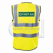 First Aid Reflective Hi Viz Safety Vest - High Vis Waistcoat Paramedic Medic