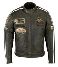 Motorad Leder Jacke, Biker Harley Chopper Leder Jacke,Motorrad Biker Leder Jacke