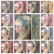 3 Pack jaune Bows /& Serre-tête Cheveux Band Aliceband Cheveux Bow Set pour Femme Filles Enfants