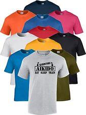Aikido Eat Sleep Train Martial Arts T Shirt