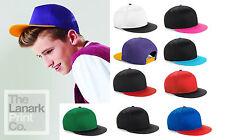 BEECHFIELD JUNIOR YOUTH VARSITY SNAPBACK BASEBALL CAP HAT B615 - KIDS 9 COLOURS
