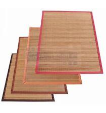 Bamboo Natural tapis à bandes étroites de meubles en plusieurs tailles.