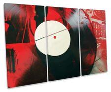 DJ Vinyl Record Grunge Picture TREBLE CANVAS WALL ART Print
