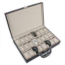 Uhrenschatulle für 36 Uhr Uhrenkasten Uhrenkiste Uhrenkoffer Uhrenbox