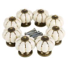 8pcs Poignée Bouton céramique 4cm citrouille blanc / vert pr porte meuble tiroir