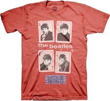 THE BEATLES - Vegas Cards - T SHIRT S-M-L-XL-2XL Brand New - Official T Shirt
