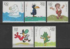 Bund 2055-2059 ** Jugend 1999 Trickfilmfiguren Tabaluga  Der kleine Eisbär Mecki