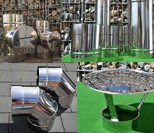 Edelstahl Schornstein Sanierung Ofen Kamin Bogen Abgasrohr Abdekung Premium 0,6