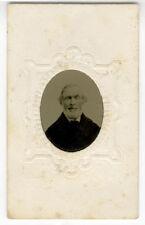 Tintype Man White Beard 1860s D.I. Salt Brooklyn NY